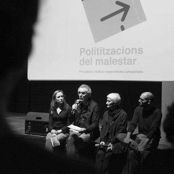 Presentació de l'exposició Polititzacions del malestar, 18 octubre del 2017, Arts Santa Mònica.