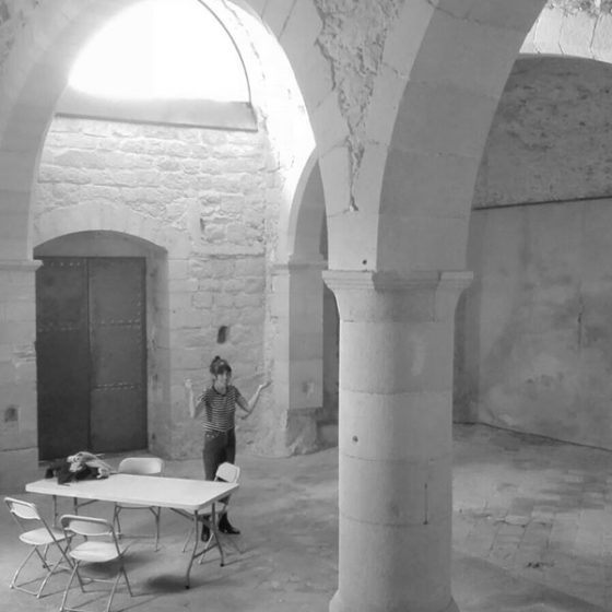 Virginia García del Pino en residencia en Bòlit (Capilla de Santa Llúcia) en Girona.