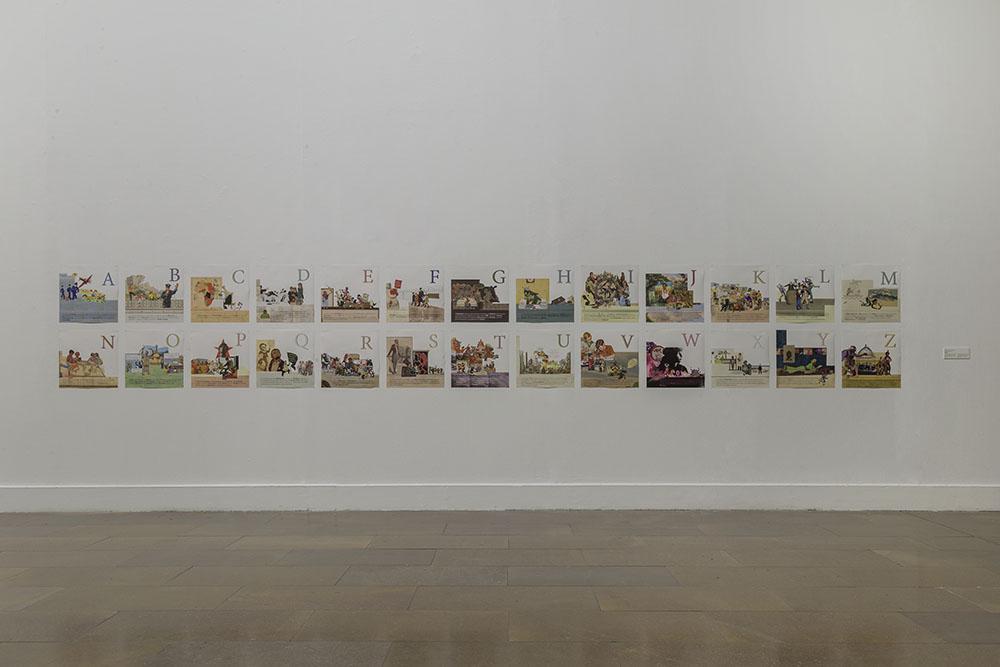 Daniela Ortiz, ABC de la Europa racista (2017), vista de la exposició
