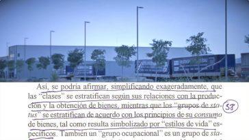 """Frame del video """"La ficción laboral. Amianto en El Prat"""" Video digital. 37'09 min. 00/05+P.A. Barcelona 2017"""