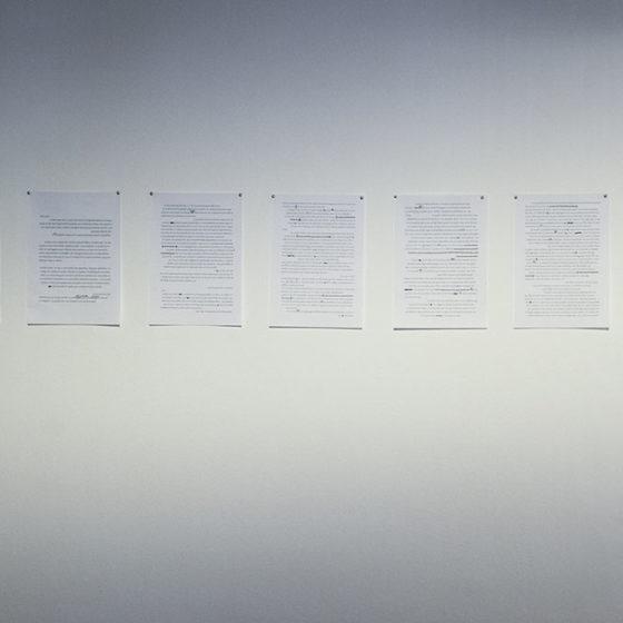 """Display de Cambio: Olaia/ São Paulo en la exposición """"L'efecte Vora"""", Sant Andreu Contemporani. Fotografía Jose Begega, 2017"""