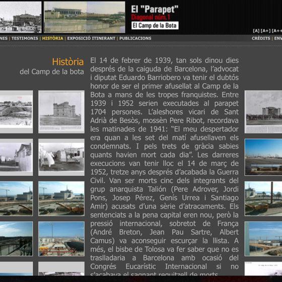Captura de la web Camp de la Bota