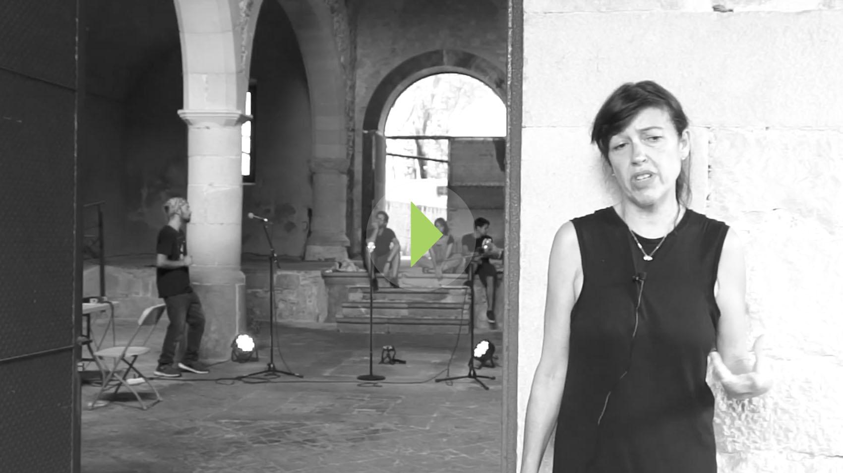 Virginia García del Pino en residència en Bòlit de Girona